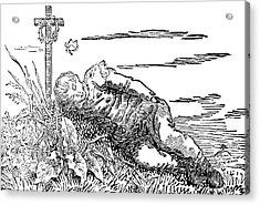 Boy Asleep On A Grave, 1802 Acrylic Print