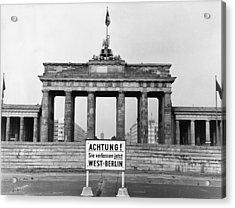 Brandenburg Gate Acrylic Print by John Waterman