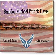 Brandon Fleece Blanket Acrylic Print