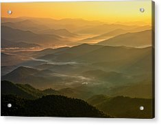 Acrylic Print featuring the photograph Brasstown Bald Mists by Andy Crawford