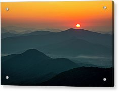 Acrylic Print featuring the photograph Brasstown Bald Sunrise by Andy Crawford