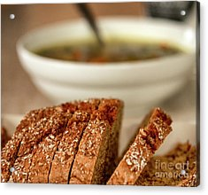 Bread And Soup Acrylic Print