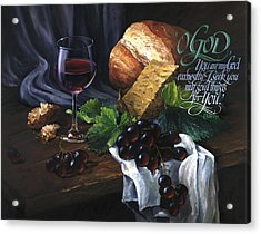 Bread And Wine Acrylic Print
