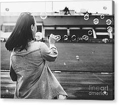 Break Explore Female Fun Journey Joy Acrylic Print