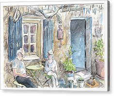Breakfast Al Fresco Acrylic Print