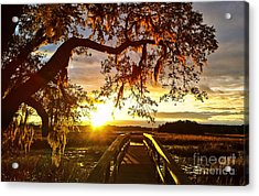 Breaking Sunset Acrylic Print