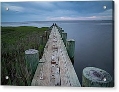 Breakwater At Harvey Beach In Old Saybrook Acrylic Print