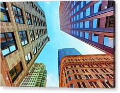 Brick And Mortar Skyward Acrylic Print