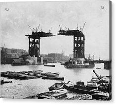 Bridge Construction Acrylic Print by London Stereoscopic Company