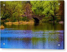 Bridge In Central Park Acrylic Print
