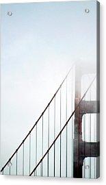 Bridge In Fog Acrylic Print by By Ken Ilio