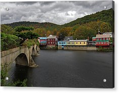 Acrylic Print featuring the photograph Bridge Of Flowers by Juergen Roth