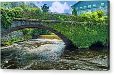 Bridge Of Flowers Acrylic Print
