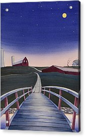 Acrylic Print featuring the painting Bridge Over Buck Creek II by Scott Kirby
