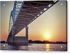 Bridge Over Mississippi River Acrylic Print