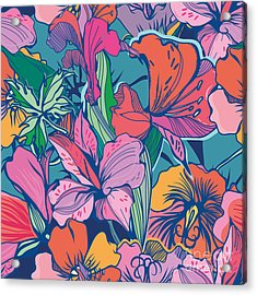 Bright Abstract Wallpaper Seamless Acrylic Print