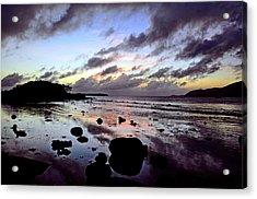 Bright Mirror Of Sunset Light Acrylic Print