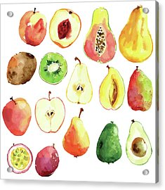 Bright Vector Watercolor Hand Drawn Acrylic Print by Dinkoobraz