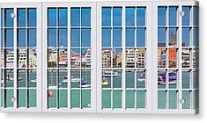Brilliant Bermuda Cityscape Windows Acrylic Print
