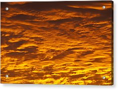 Brilliant Clouds At Sunrise Acrylic Print