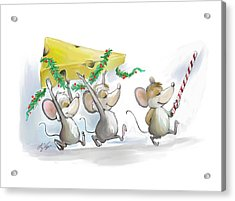Bringing In The Christmas Cheese Acrylic Print