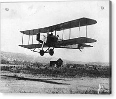 British Bi-plane Acrylic Print by Hulton Archive