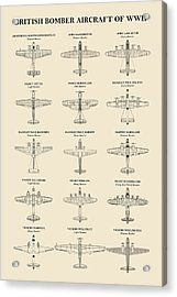 British Bomber Aircraft Of Ww2 Acrylic Print
