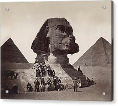 British Soldiers At The Sphinx Acrylic Print