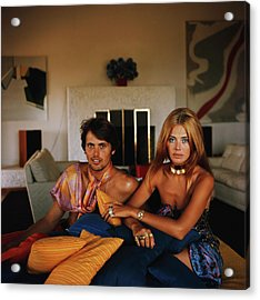 Britt And Her Brother Acrylic Print by Slim Aarons