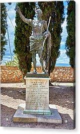 Acrylic Print featuring the photograph Bronze Copy Of Augustus Of Prima Porta Sculpture In Spain by Eduardo Jose Accorinti