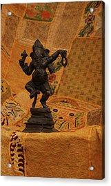 Bronze Ganesha Dancing Acrylic Print