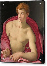 Bronzino -monticelli 1503 - Florence 1572-. Saint Sebastian -ca. 1533-. Oil On Panel. 87 X 76.5 Cm. Acrylic Print