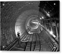 Brooklyn Battery Tunnel Under Acrylic Print by New York Daily News Archive