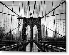 Brooklyn Bridge Acrylic Print by Serhio.com Photography By Sergei Yahchybekov