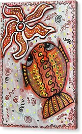 Brother Fish And Sister Starfish In Deep Conversation Acrylic Print
