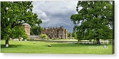 Broughton Castle In Spring Panoramic Acrylic Print by Tim Gainey