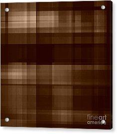 Acrylic Print featuring the digital art Brown Plaid by Rachel Hannah