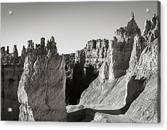 Acrylic Print featuring the photograph Bryce Canyon Np Ix Bw by David Gordon
