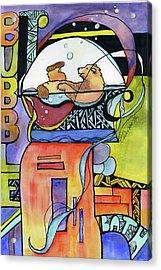 Bubble Bath Bear Acrylic Print