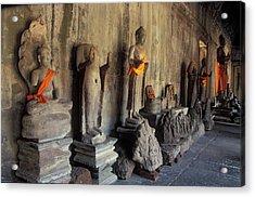 Buddha Statues, Angkor Wat, Cambodia Acrylic Print