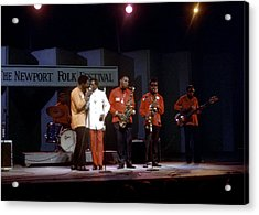 Buddy Guy And Junior Wells At Newport Acrylic Print by Michael Ochs Archives