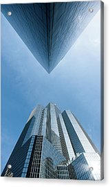 Buildings Face To Face Acrylic Print by © Philippe Lejeanvre