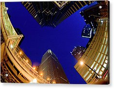 Buildings, Low Angle View Acrylic Print by By Ken Ilio