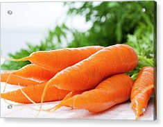 Bunch Of Fresh Carrots, Close Up Acrylic Print by Westend61