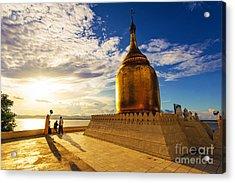 Buphaya Pagoda In Bagan, Myanmar At Acrylic Print by Richard Yoshida