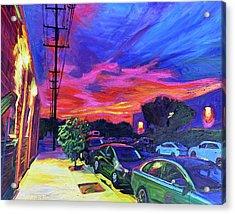 Burbank Blaze Acrylic Print