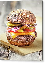 Burger Acrylic Print by Claudia Totir