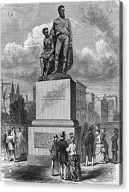 Burke And Wills Statue Acrylic Print by Hulton Archive