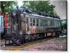 Burlington Passenger Car Acrylic Print by G Wigler