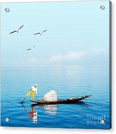 Burma Myanmar Inle Lake Traditional Acrylic Print